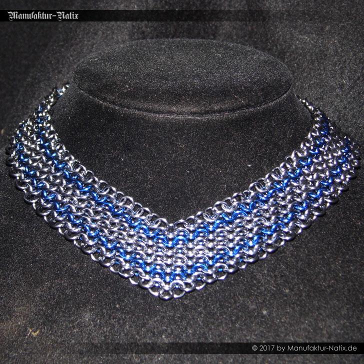 Halsband V Dunkelsilber